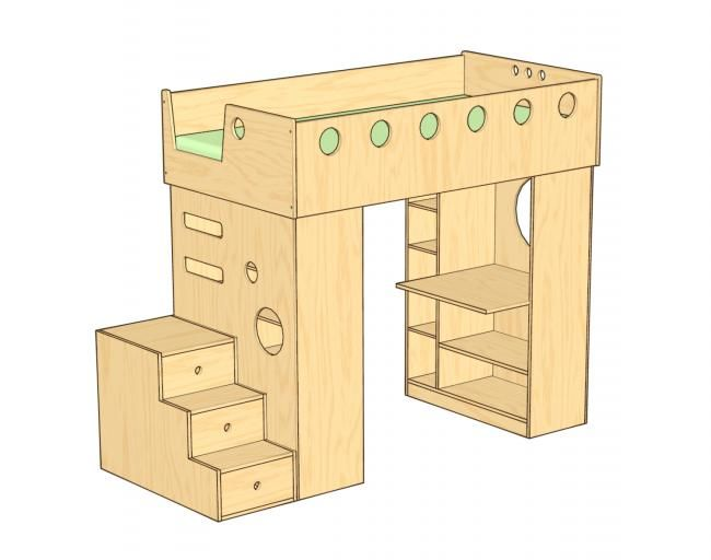 Best Dumbo Loft Bed With Stairs Loft Bed With Stairs Has A 640 x 480
