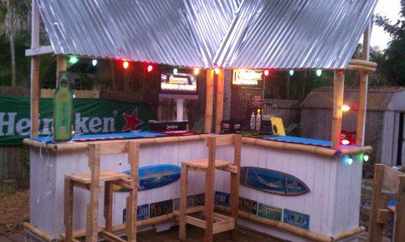 Custom backyard tiki bar by everytingawesome on etsy - Above ground pool bar ...