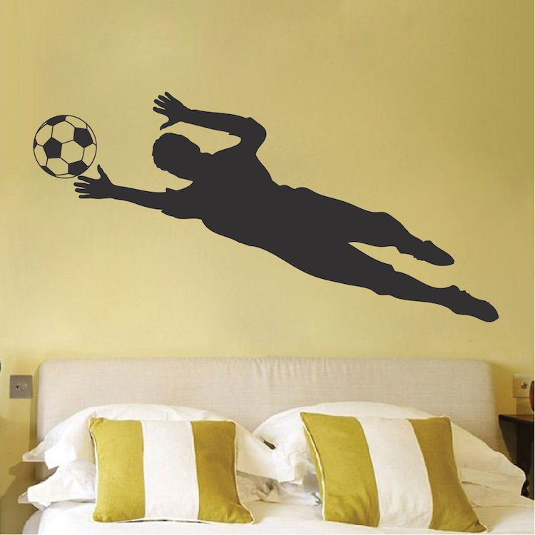 Soccer Goalie Wall Decal Sticker | Soccer goalie, Wall decal sticker ...
