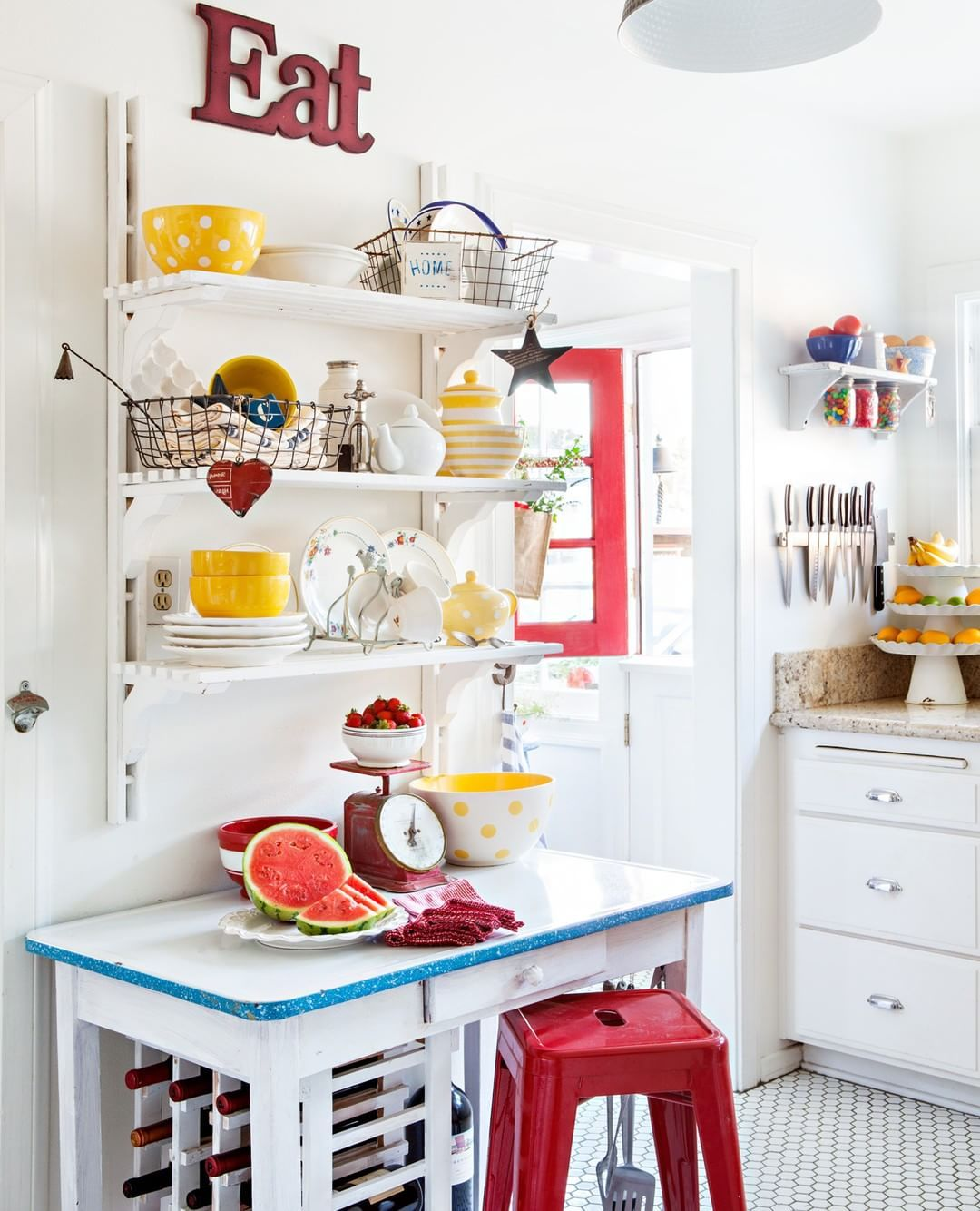 We love a kitchen with character and artandsand us charming beach