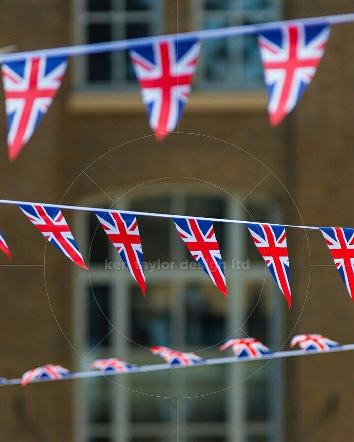 Bunting hung for the Queen's Jubilee Hay's Galleria London England UK  www.alamy.com/image-details-popup.asp?ARef=F1B5JG  #banner #blue #britain #british #bunting #celebration #color #colorful #colour #decoration #england #event #festival #flag #flying #great #hanging #jack #jubilee #kingdom #national #outside #patriotic #patriotism #red #string #uk #union #united #white