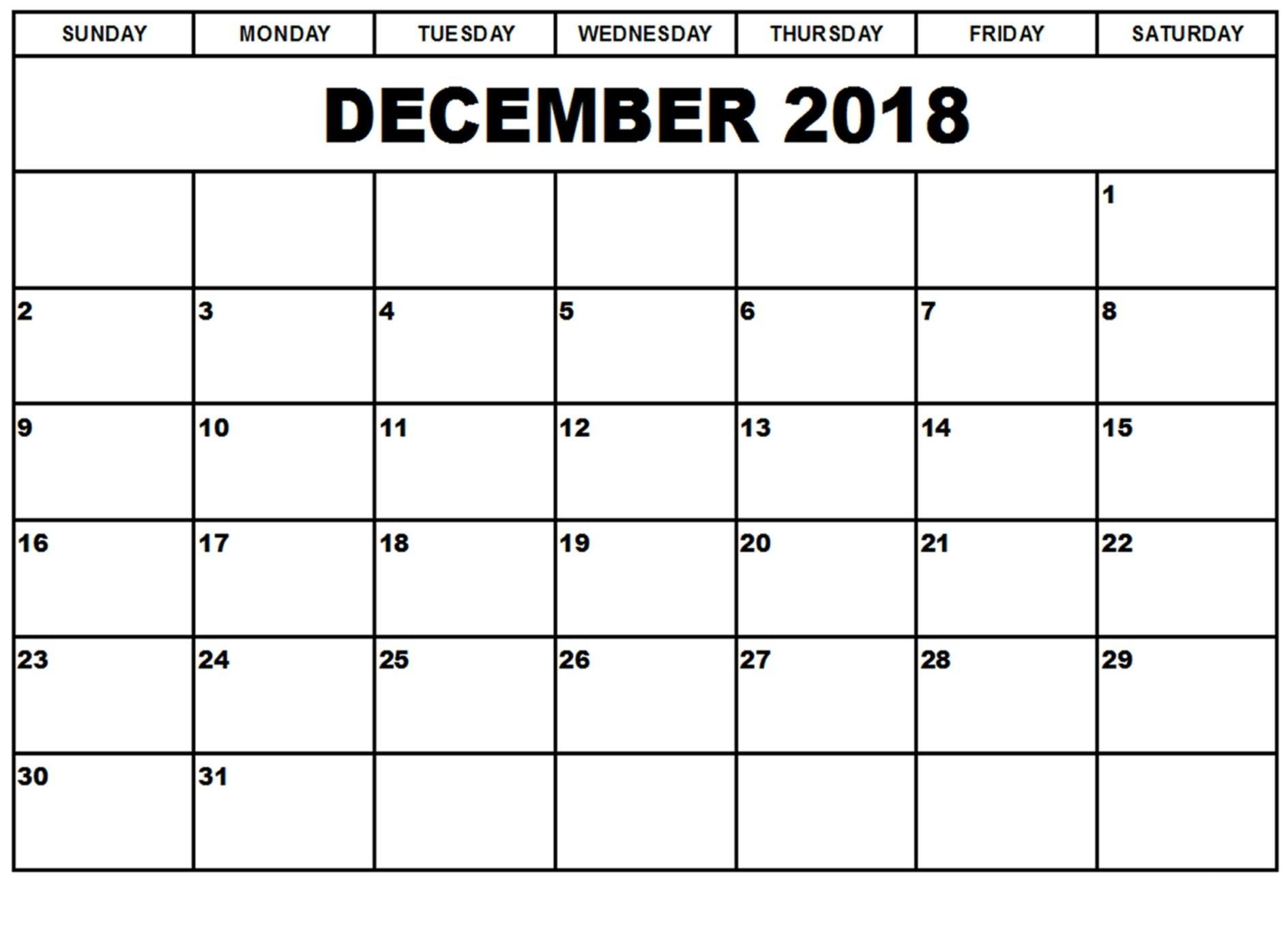 dec 2018 calendar table planner