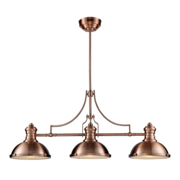 Light Billiard In Antique Copper