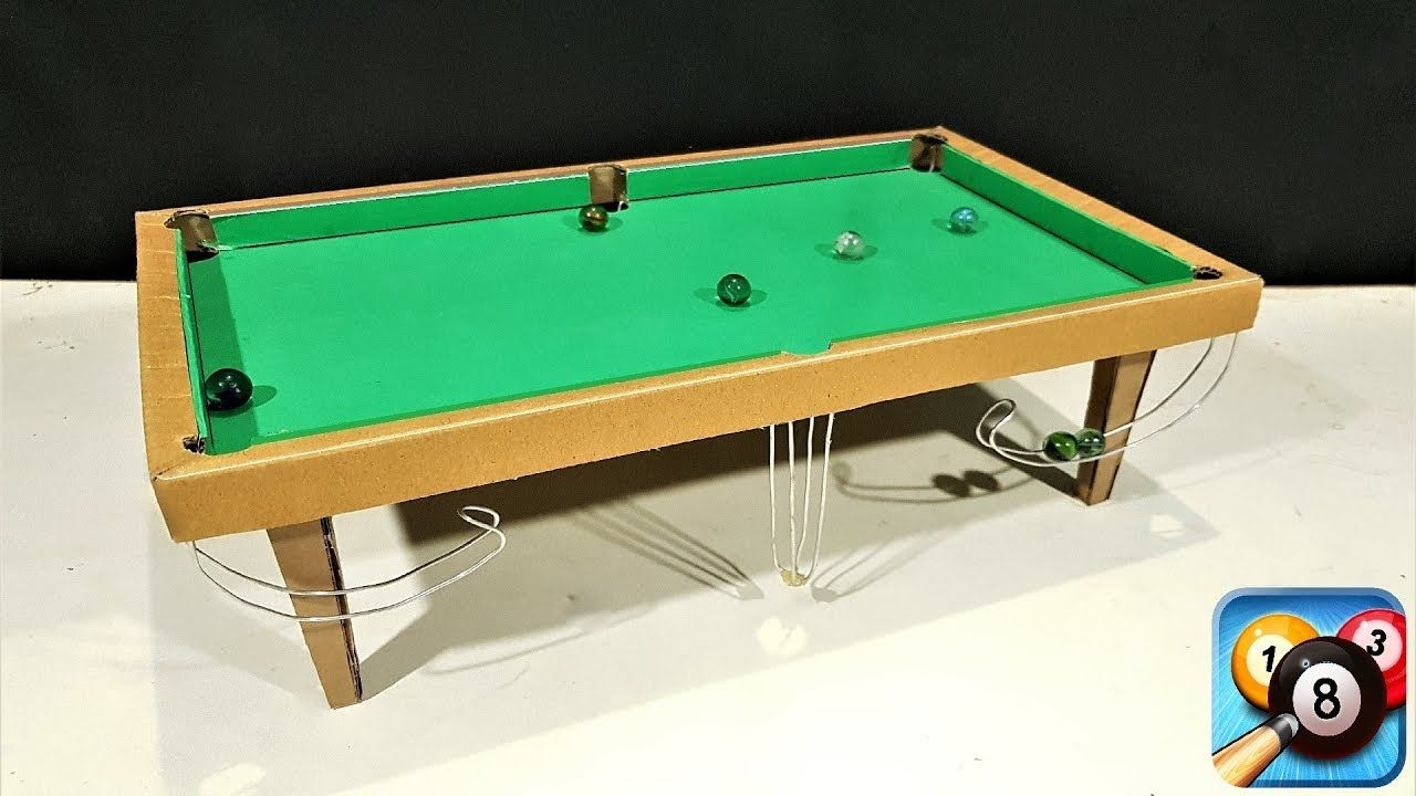 How To Make 8 Ball Pool Snooker Table Game From Cardboard Youtube Snooker Table Pool Balls Snooker