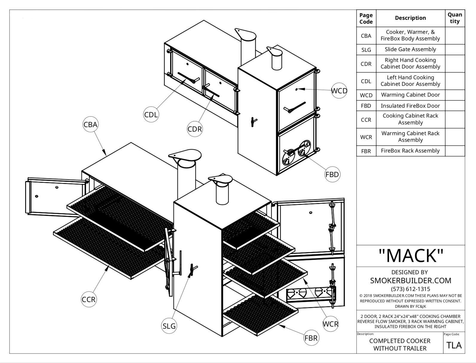 Mack Reverse Flow Smoker 24x24x48 Insulated Firebox On
