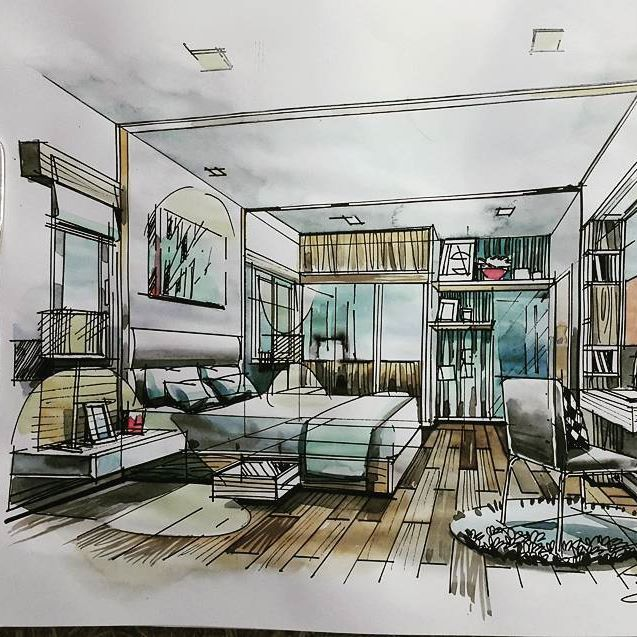 #sketch #Design #watercolour #education #interiordesign