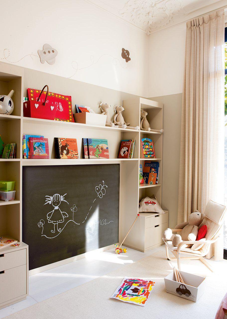 40 cuartos de juegos soñados para cualquier niño   Habitaciones infantiles, Decorar habitacion niños, Sala de juegos para niños