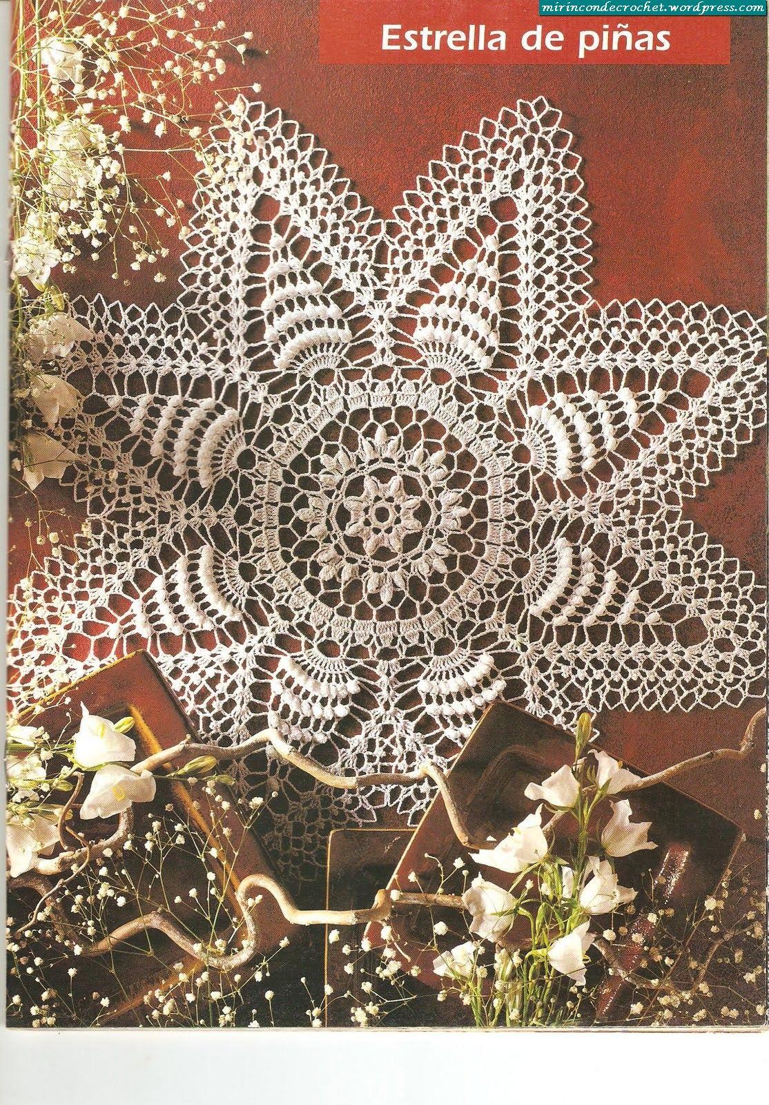 Crochet artístico….otra estrella!!! | Tischdecken, Deckchen und Häkeln