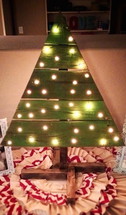Christmas Tree Made Out Of A Pallet Pallet Christmas