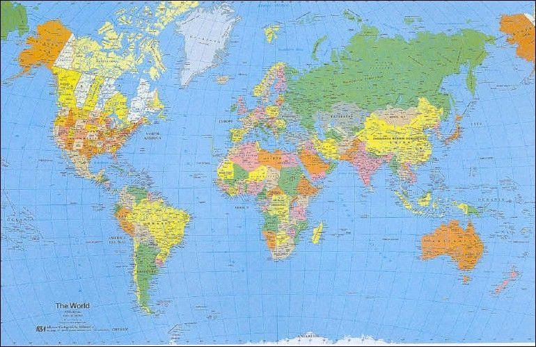 Mappamondo Cartina Geografica.Cartina Geografica Planisfero Politico Da Stampare Cerca Con Google Geografia Stampe Politica