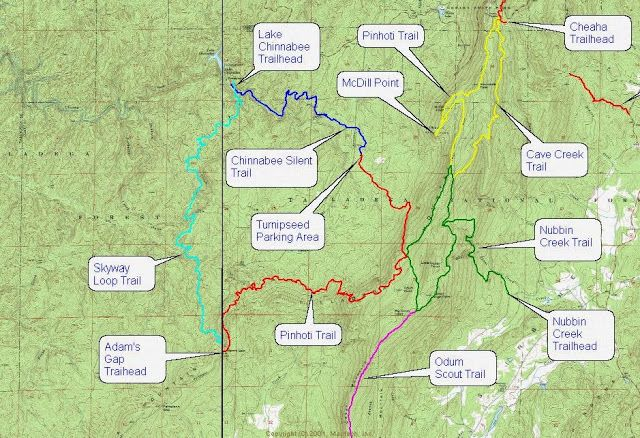 Talladega National Forest Cheaha State Park: Pinhoti ... on chehaw park campground map, alabama state map, mt. cheaha map, forest park hiking trails map, mount cheaha trail map, cheaha mountain hiking trail map, blauvelt state park trail map,