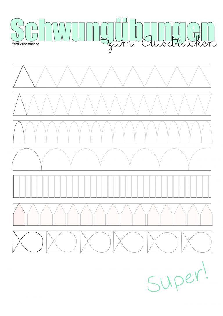 Schwungübungen für Kinder zum Ausdrucken | ABC & 123 & Farben ...