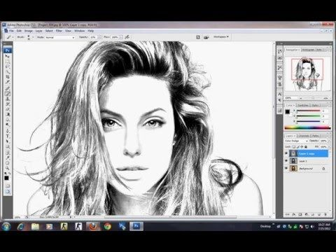 Photoshop tutorial how to make sketch using image youtube