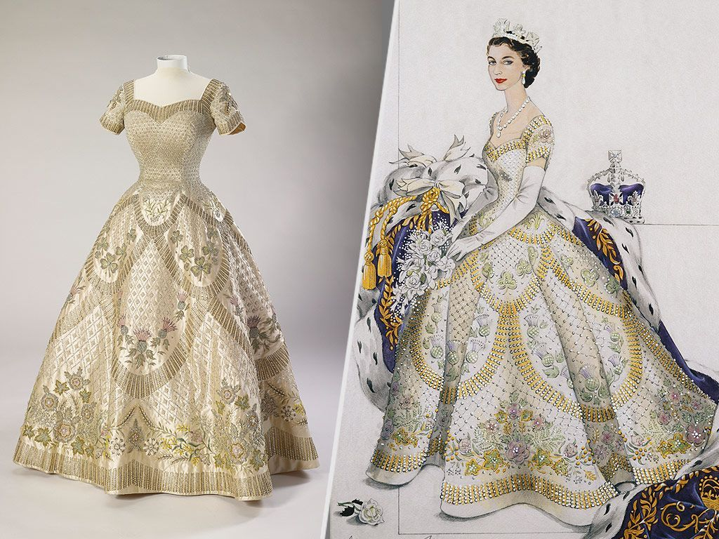 Two Of Queen Elizabeth S Most Iconic Dresses Are Set To Go On Display At Buckingham Palace Queen Wedding Dress Coronation Dress Queen Elizabeth Wedding [ 768 x 1024 Pixel ]