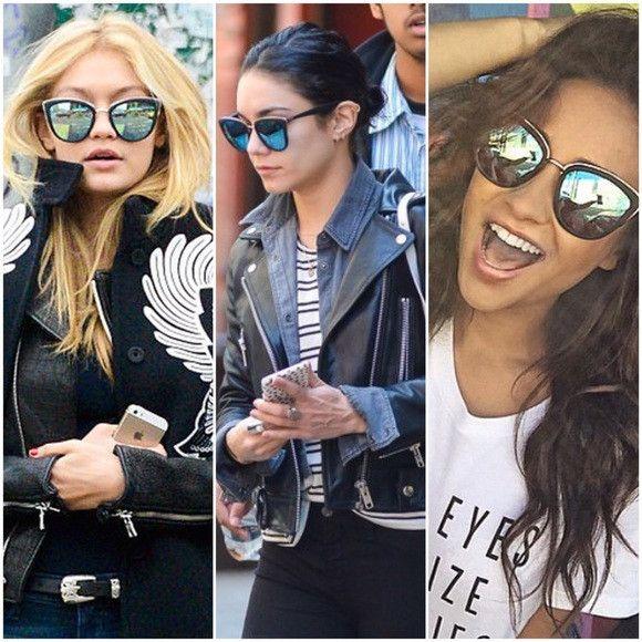 cede10c559f Oversized Cat Eye Mirrored Sunglasses Vintage Matte Black Cateye Glasses -  Clara - Dempsey   Gazelle - 1