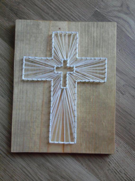 Cross String Art Jesus String Art Cross Wall Art By Kreationsbykac