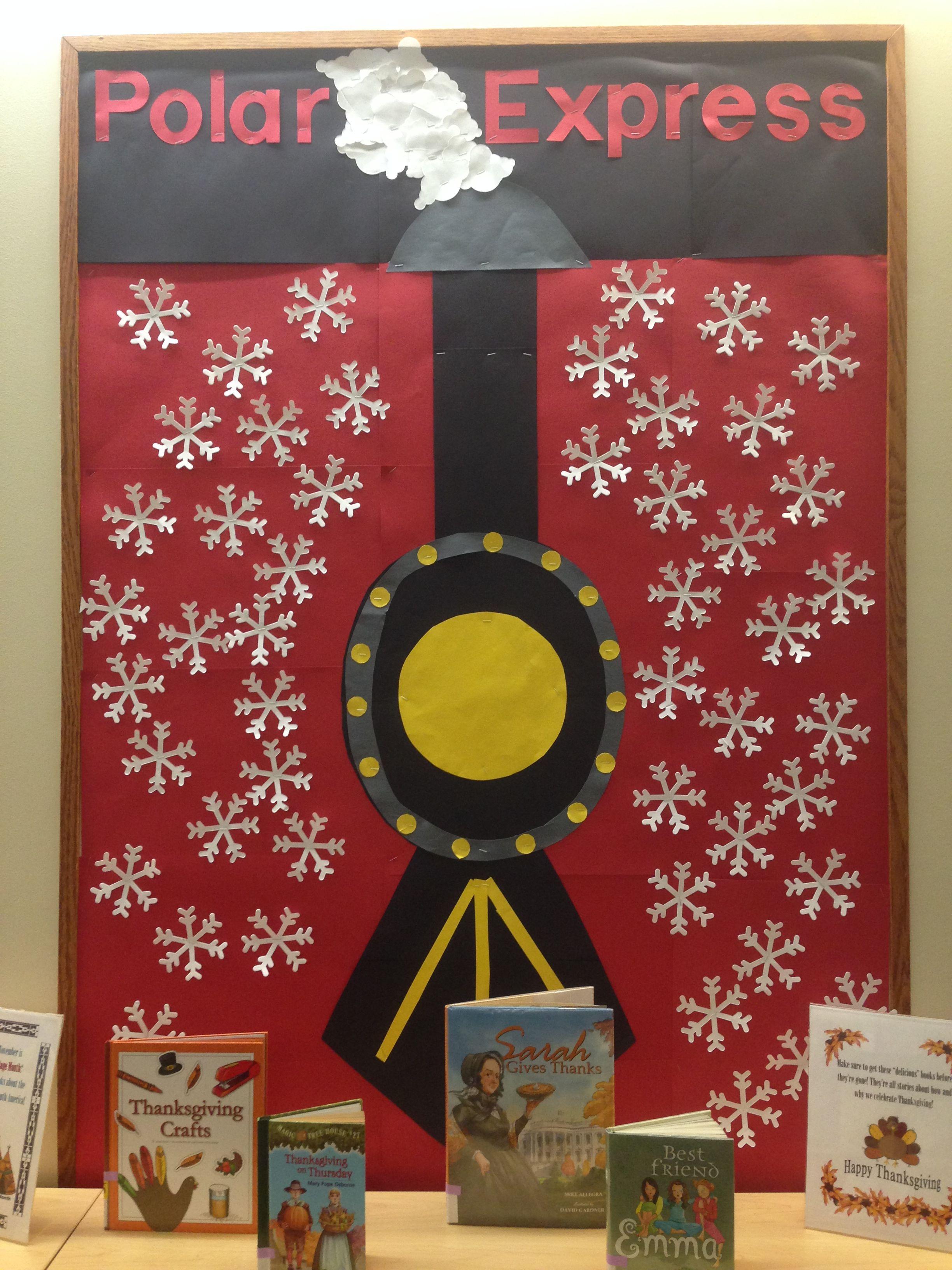 Polar Express Classroom Decoration Ideas : Polar express library bulletin boards pinterest