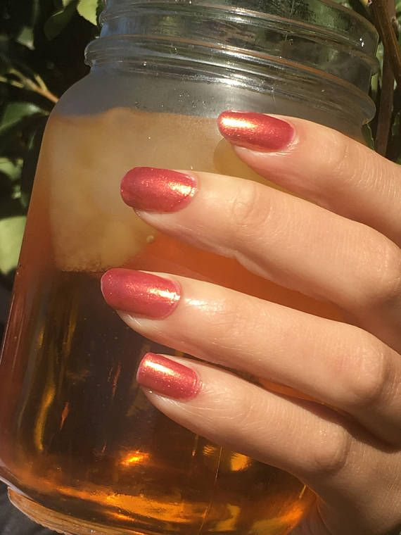 Scorching - Red Shimmer Nail Polish by MagpieCosmetics on Etsy https ...