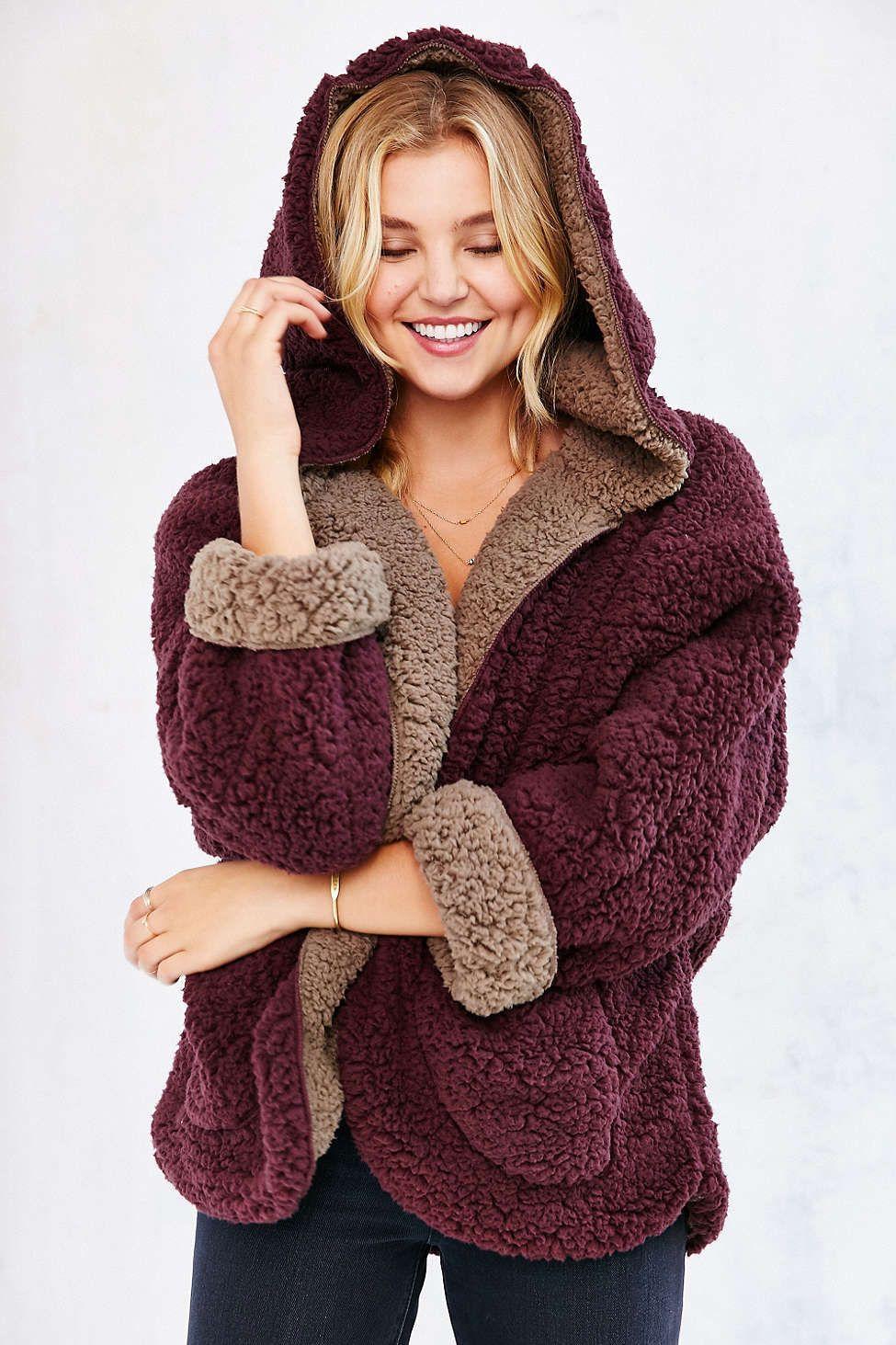 65d6edb33 Ecote Fuzzy Reversible Jacket | Feminine Inspiration in 2019 ...
