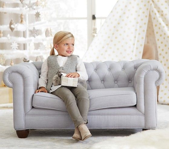 Kids Furniture Couch: Chesterfield Mini Sofa #pbkids