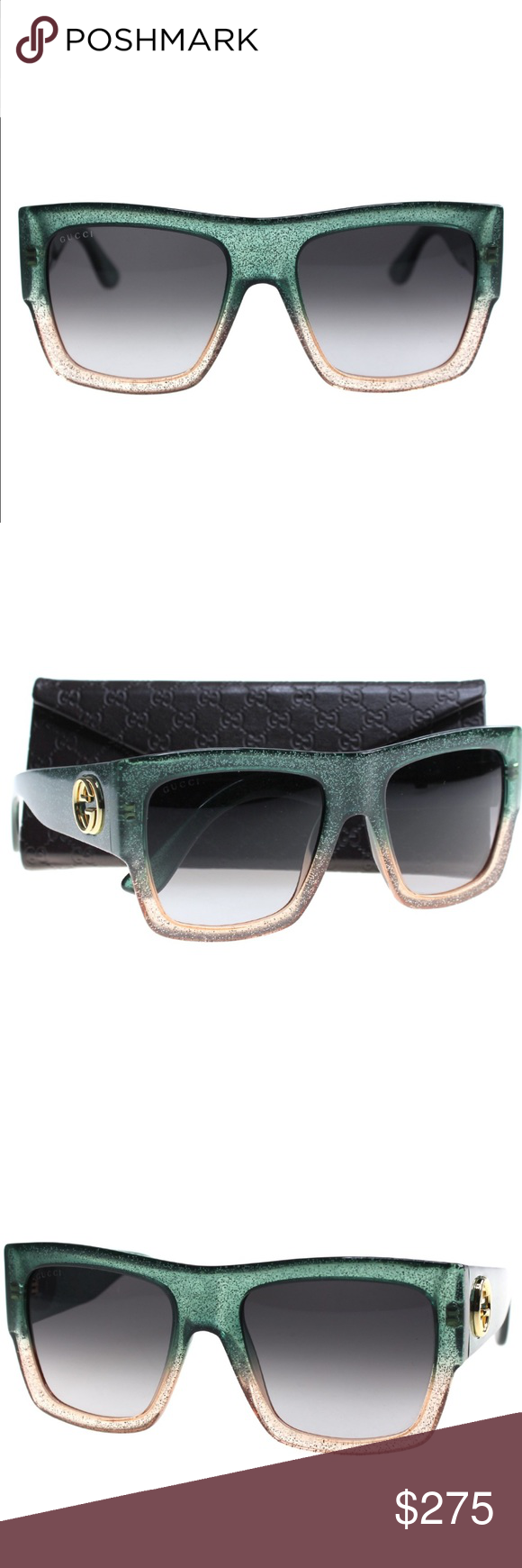 7b08c56d73 NEW Gucci Glitter Sunglasses From Current Gucci Collection - comes with  authenticity certificate from Gucci.
