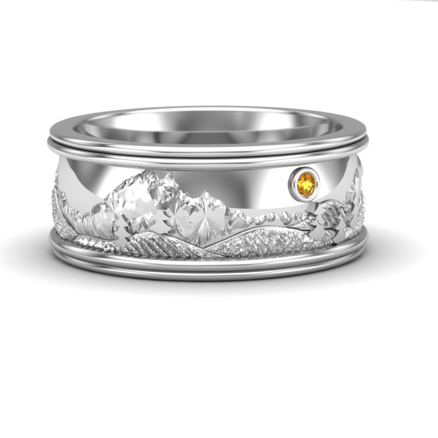 Rocky Mountain Wedding Band in Sterling Silver | Jewelry | Pinterest ...