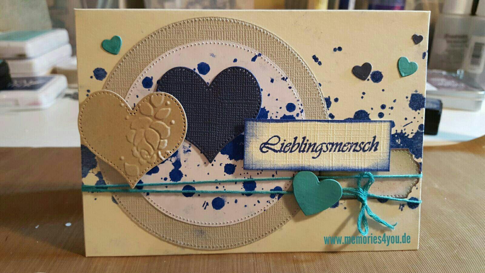 Karte für Valentinstag gemacht mit #www.memories4you #stempel, #crealies #stanzen und #stempel #mariannedesign  #www.memories4you.de