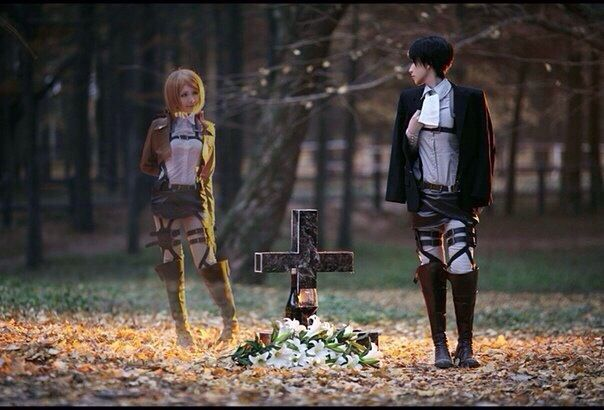 AMAZING cosplay ll Attack on Titan ll Survey Corps Special Operations Squad: Levi Ackerman and Petral Ral