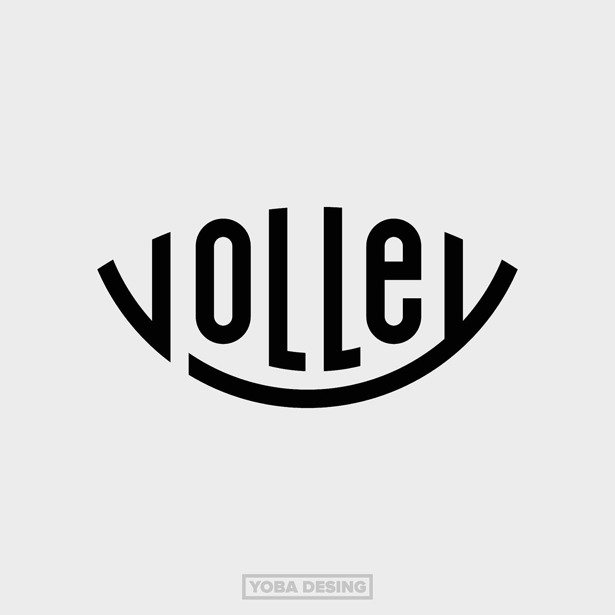 Volley Team On Behance Logos Typography Branding Logo Inspiration