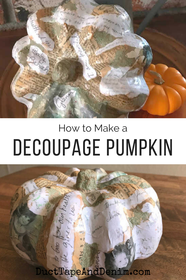 How to Decoupage Paper Mache Pumpkin Decorations {VIDEO