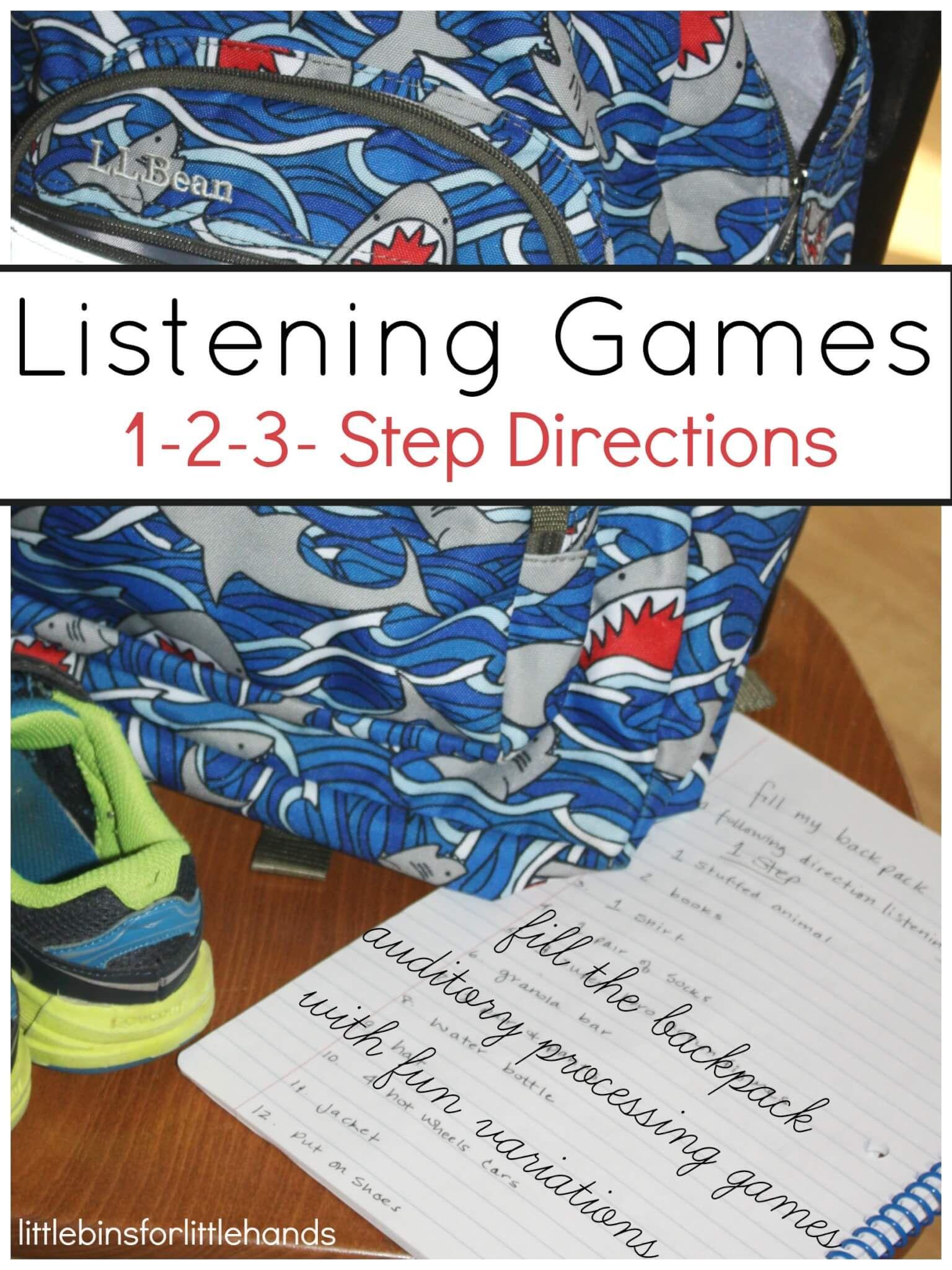 Listening Games Auditory Processing Skills Preschool