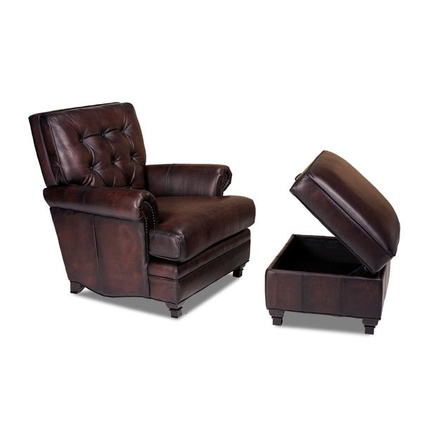 Pablo Alure Expresso Leather Chair by Opulence Home