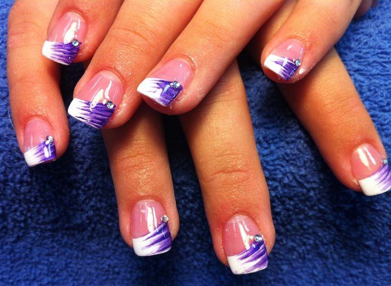nail design prom purple