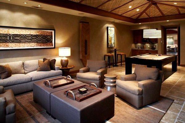 Tipps für Wohnzimmerdesign ein vom Hawaii inspirierter Stil - einrichtung im industriellen wohnstil ideen loftartiges ambiente