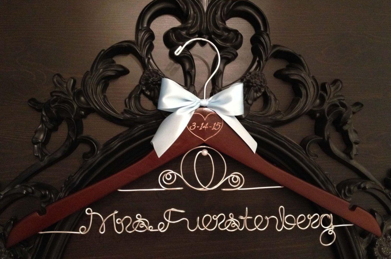 Disney Wedding Hanger / Cinderella Hanger / Disney Bridal Hanger / Bride Hanger / Personalized Hanger / Disney Bride / Fairytail Wedding by GetHungUp on Etsy https://www.etsy.com/listing/169918253/disney-wedding-hanger-cinderella-hanger