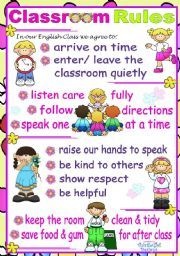posters for preschool classrooms classroom rules poster