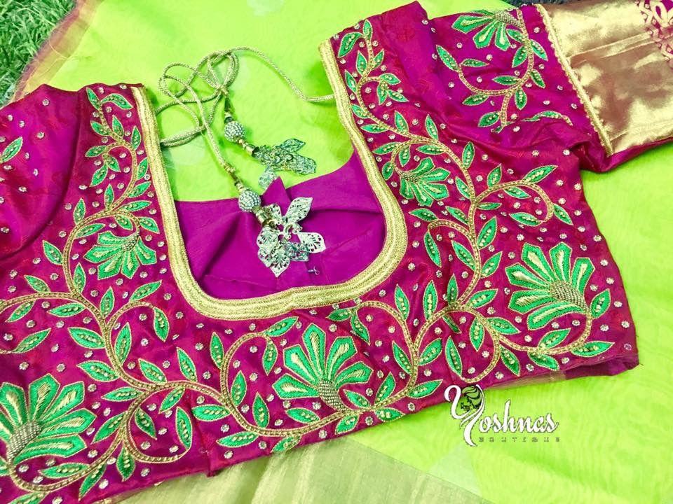 Pin de Nandhini Raj en Blouse designs   Pinterest