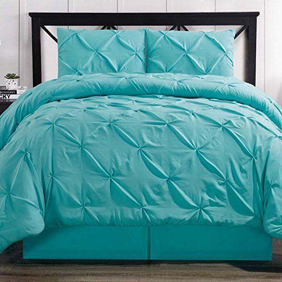 Best Comforter Set 4 Piece Pinch Pleat Pintuck Durable Stitching Luxury Modern Hypoallergenic All 640 x 480