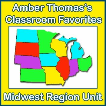 U.S. Regions Midwest and Great Plains Region Unit | TpT Social ...