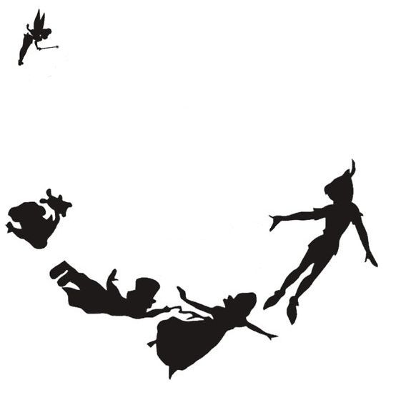 Peter Pan Silhouette Decal Tinker Bell And