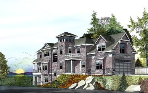 Cape Cod Style House Plans - 4702 Square Foot Home , 2 Story, 4 ...