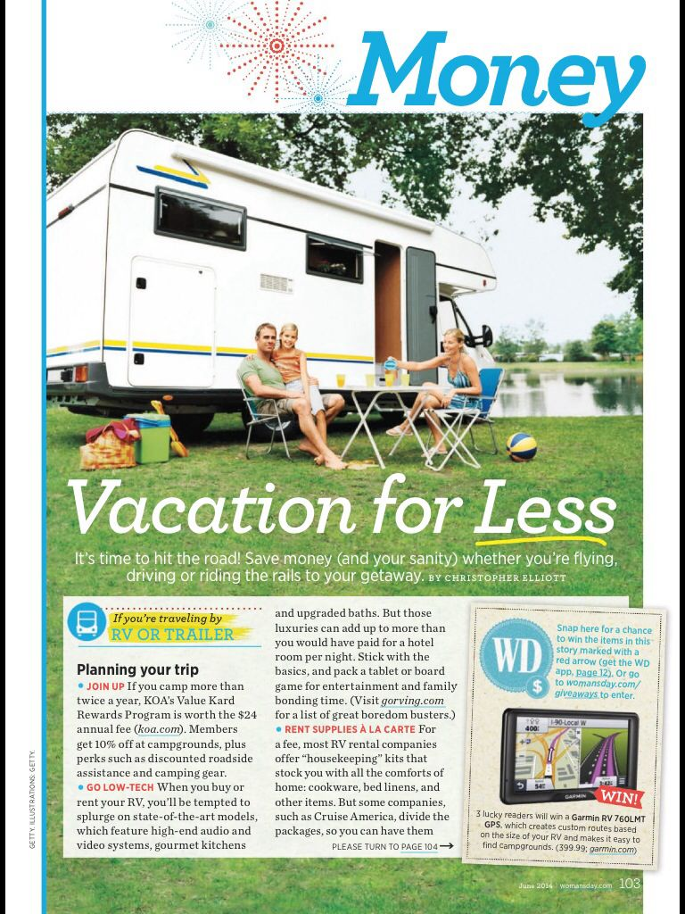 Vacation for less tips - Woman's Day