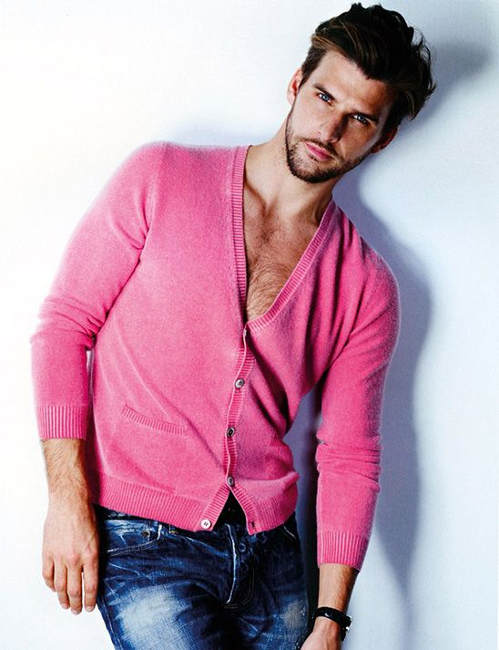 Men Look Great In Pink But Really This Guy Can Look Good Wearing