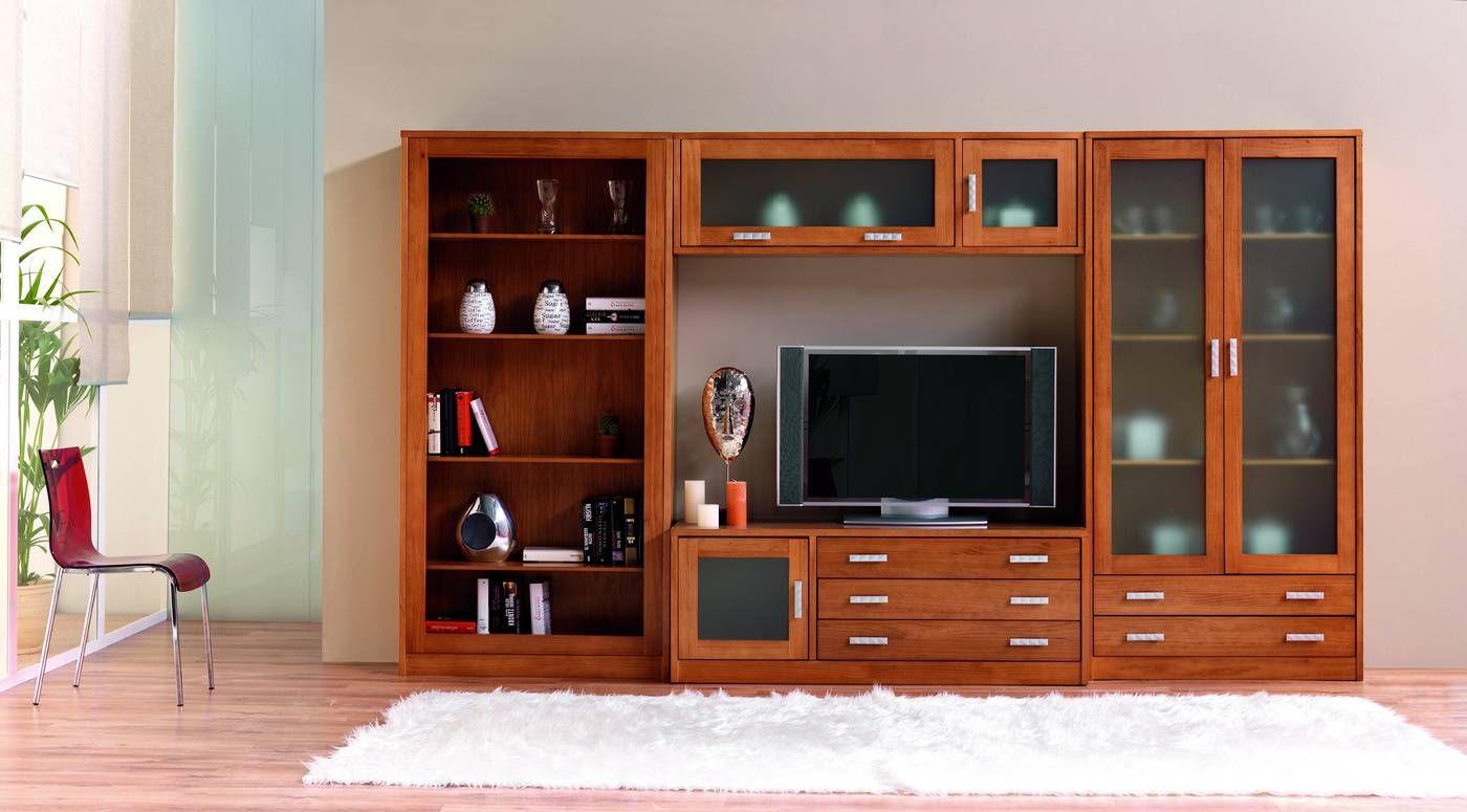 Ten as un florero de adorno en tu mueble de madera y ahora for Muebles para television de madera modernos