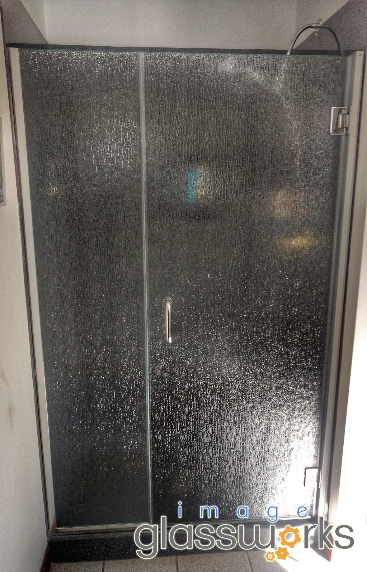 Unbelievable Frameless Swinging Door Panel Using Rain Glass And