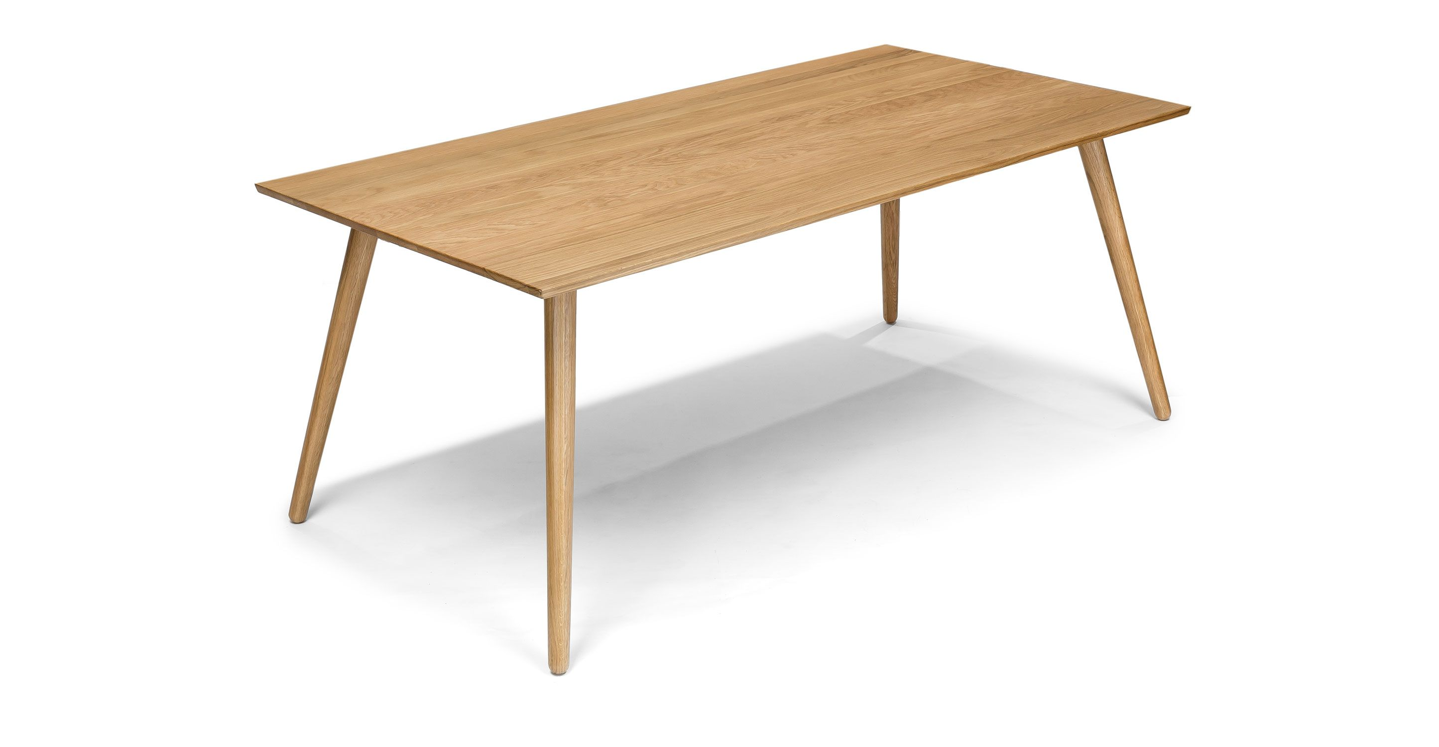 Rectangular dining table in solid wood article seno for Wood modern dining table