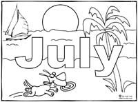 Click To Print July Coloring Page With Images Coloring Pages
