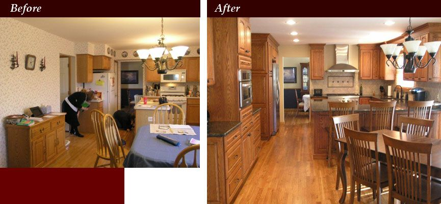 Small kitchen remodel before and after on pinterest for Kitchen remodel before after