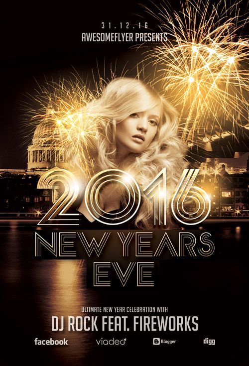 fill up your party with any of the best free new year flyer templates to welcome a new way of life