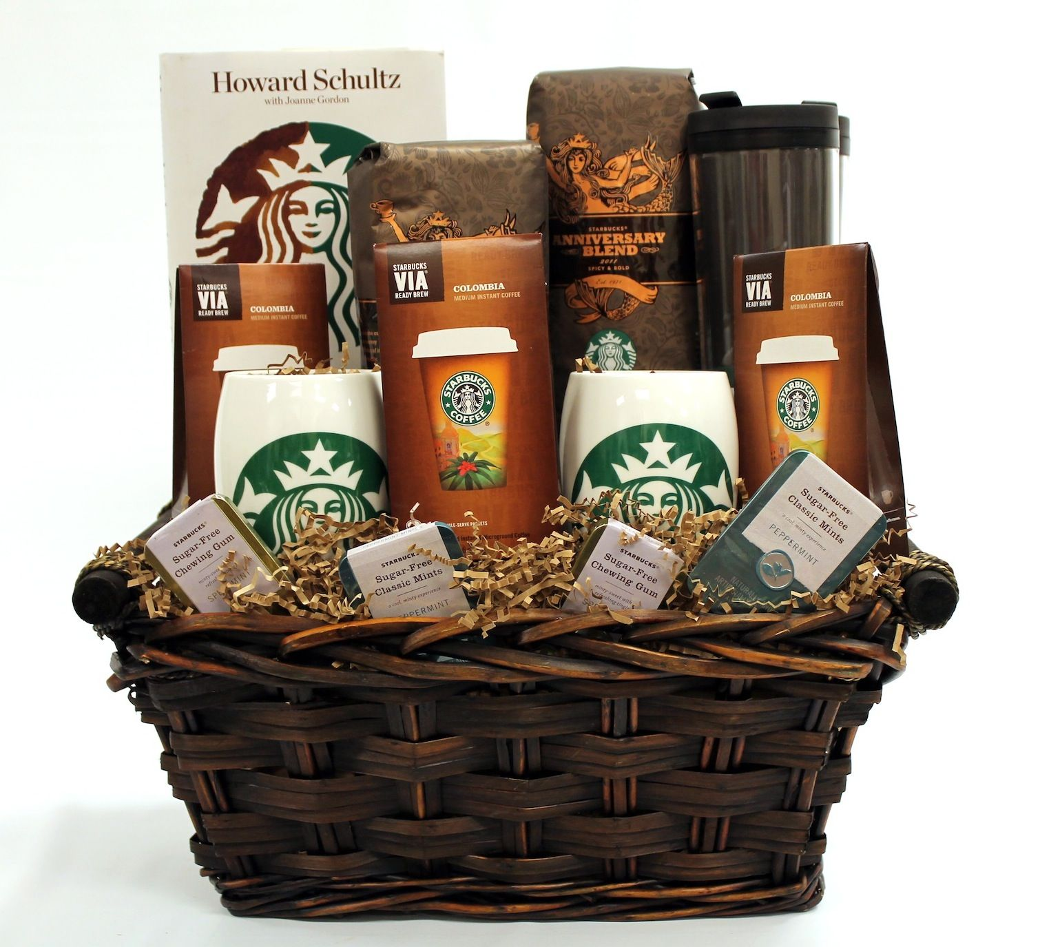 For the coffee enthusiast...a Starbucks gift basket!